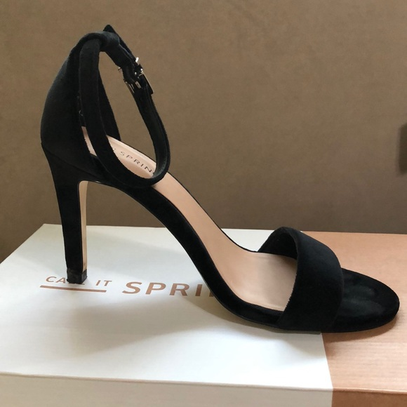 Call It Spring Shoes - Black suede heels